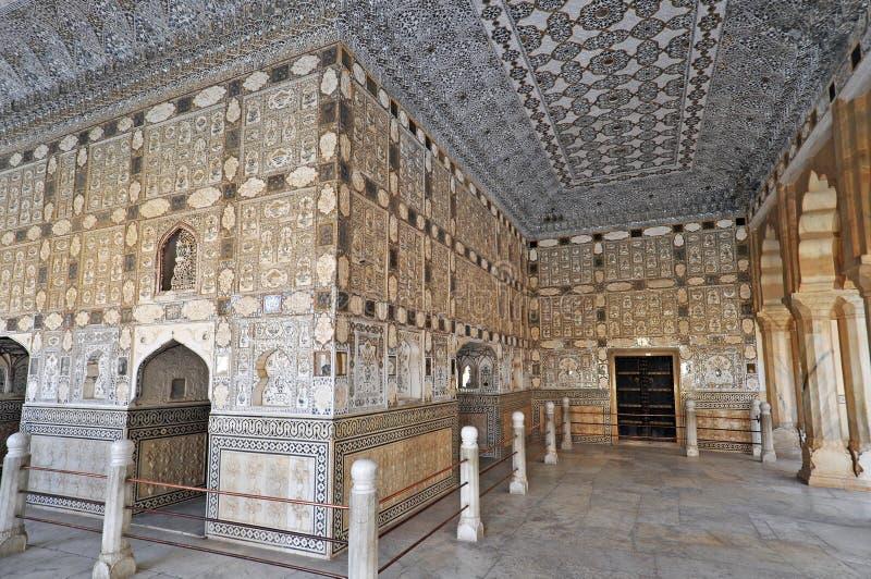Interiore della fortificazione ambrata fotografia stock