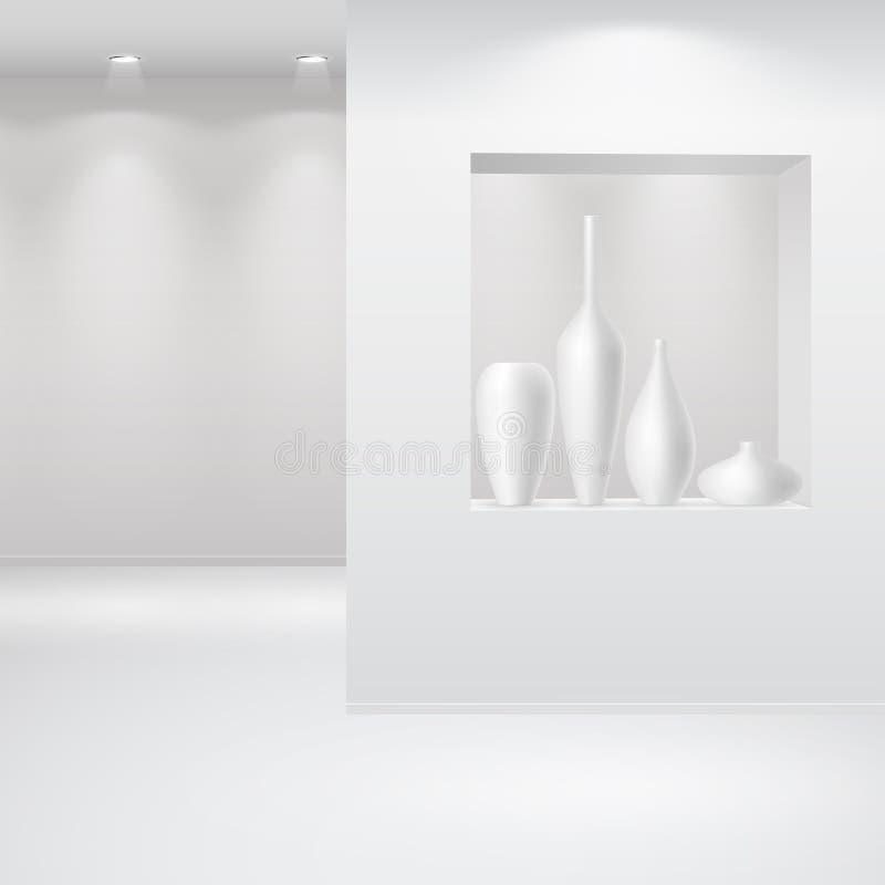 Interiore della galleria royalty illustrazione gratis