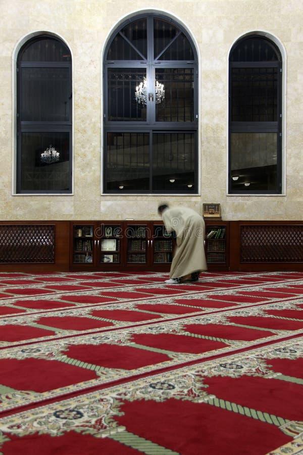 Interiore della moschea immagini stock libere da diritti