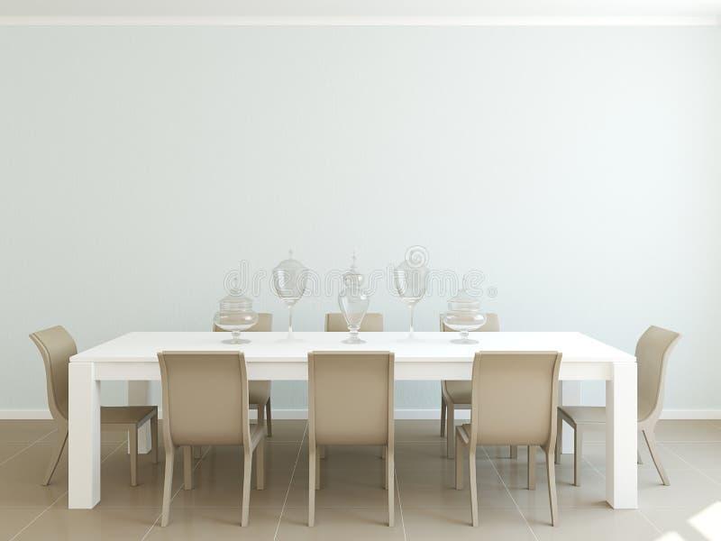 Interiore della sala da pranzo illustrazione vettoriale
