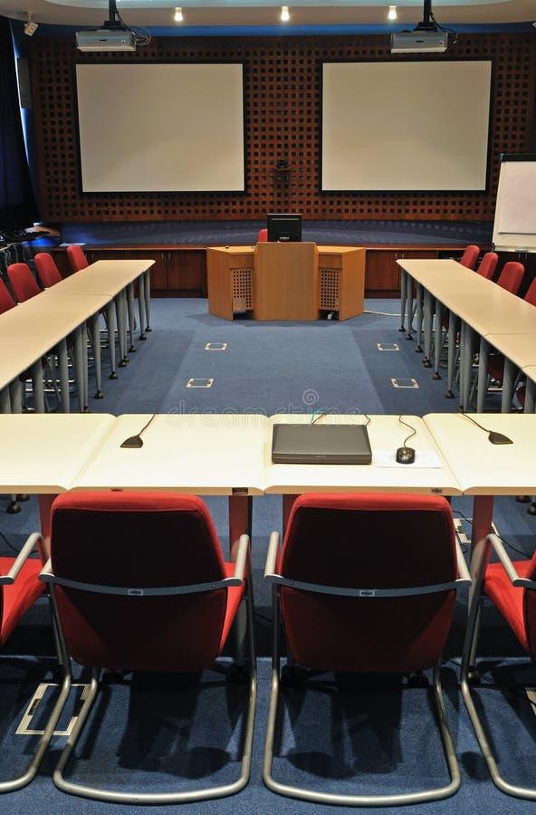 Interiore della sala per conferenze immagine stock libera da diritti