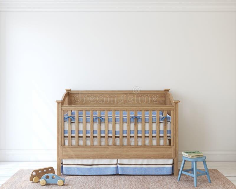 Interiore della scuola materna 3d rendono illustrazione di stock