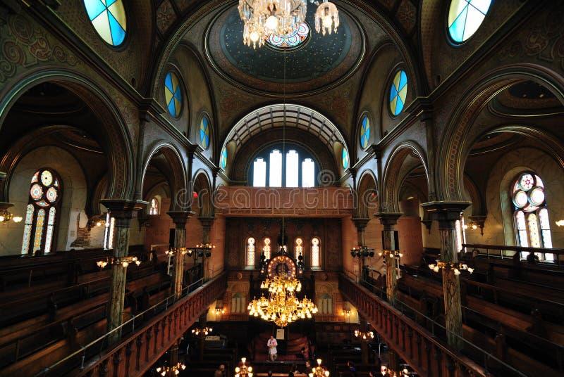 Interiore della sinagoga della via di Eldridge fotografia stock