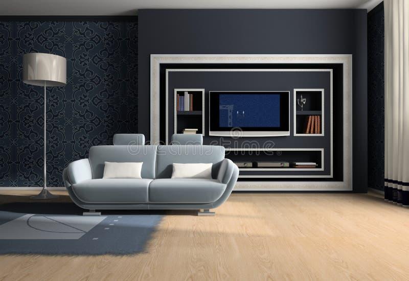 Interiore della stanza royalty illustrazione gratis