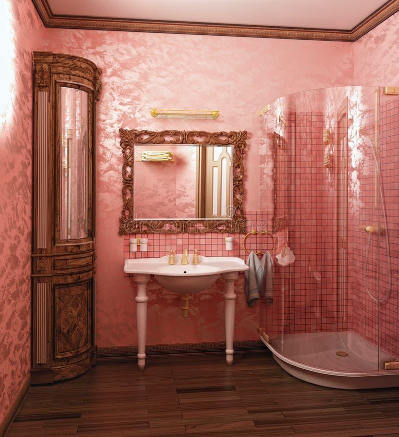 Interiore della stanza da bagno illustrazione vettoriale