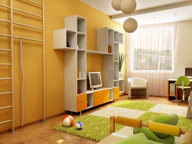 Interiore della stanza dei bambini royalty illustrazione gratis