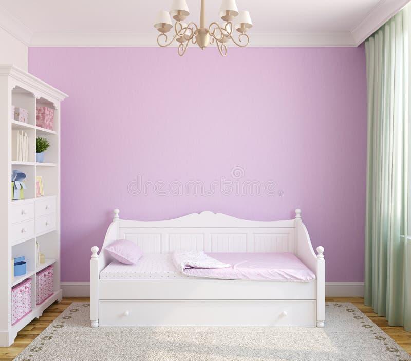 Interiore della stanza del bambino. illustrazione di stock
