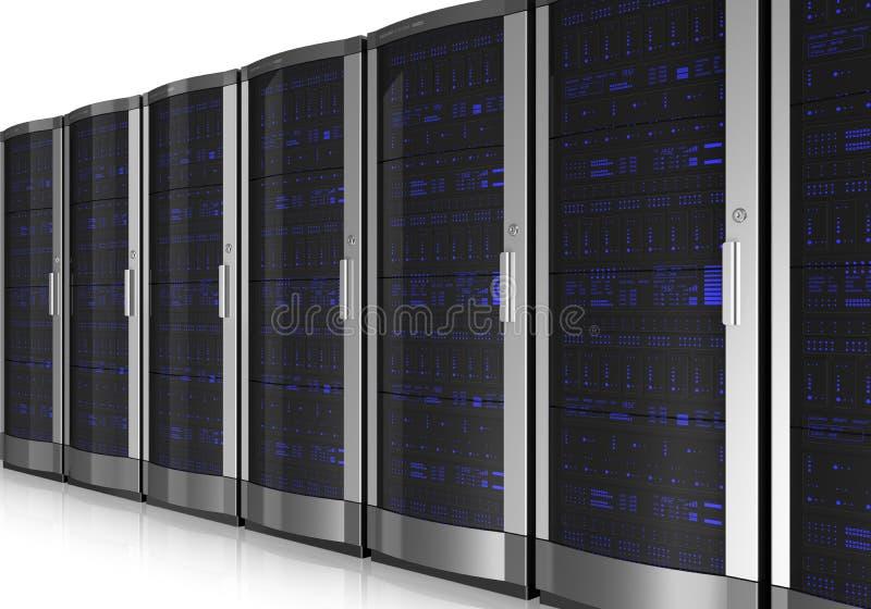 Interiore della stanza del server illustrazione di stock