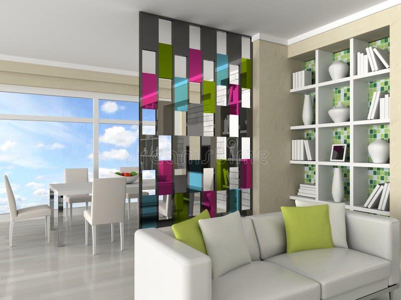 interiore della stanza moderna, salone illustrazione di stock