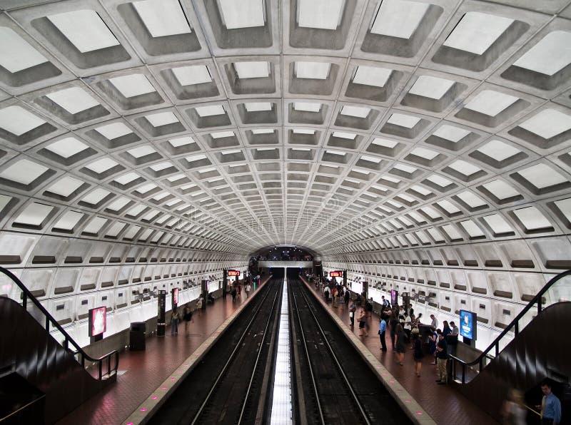 Interiore della stazione di metropolitana del cerchio di Du Pont fotografie stock