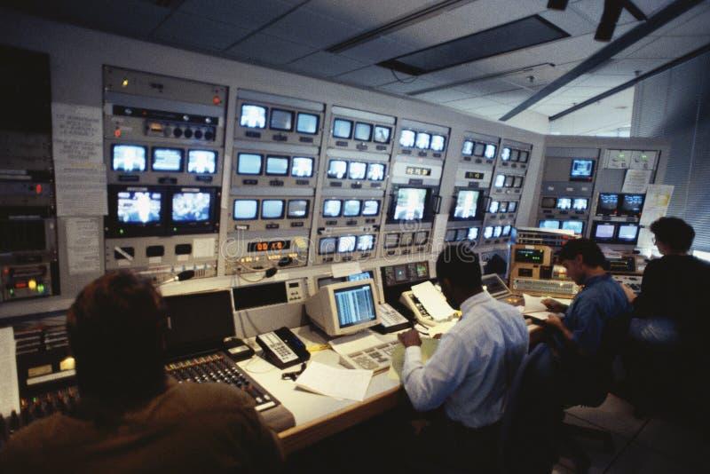 Interiore della stazione di televisione immagine stock