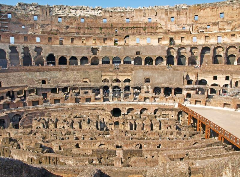 Interiore di Colosseum fotografia stock libera da diritti