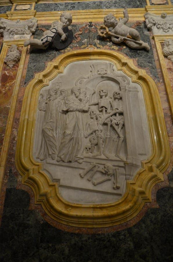 Interiore di Duomo di Monreale, Sicilia fotografia stock