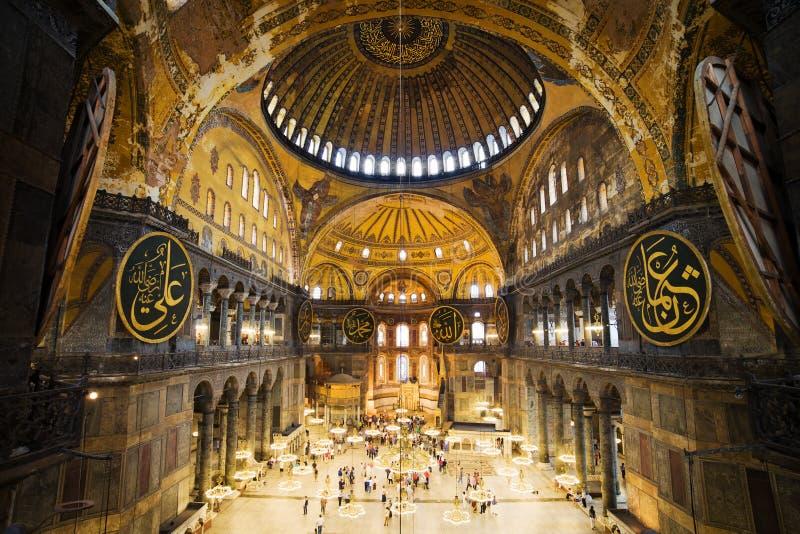 Interiore di Hagia Sophia immagine stock libera da diritti