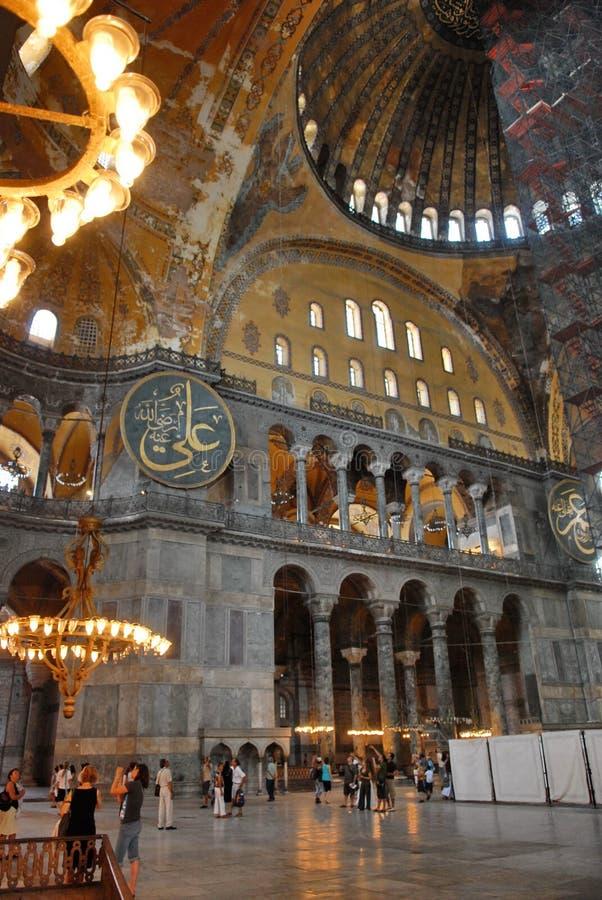 Interiore di Hagia Sophia immagini stock