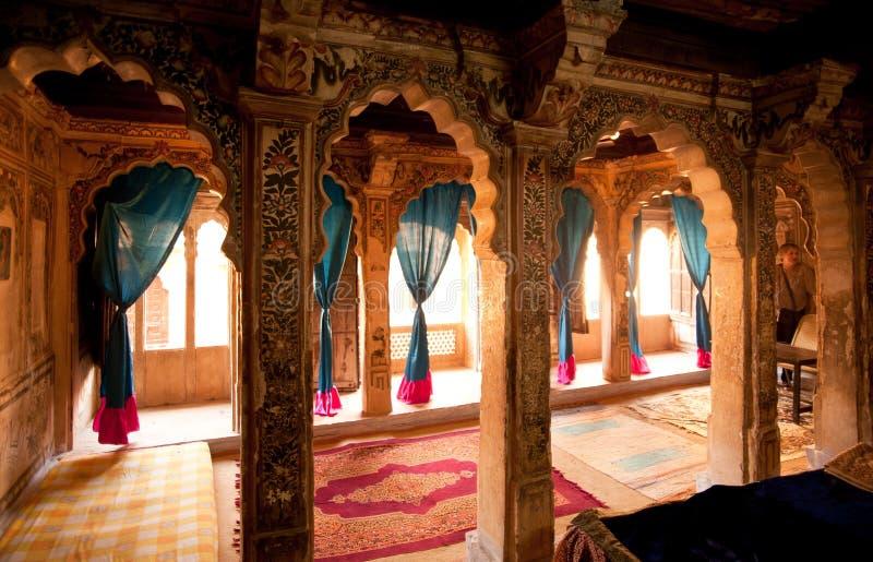Interiore di Haveli fotografia stock libera da diritti