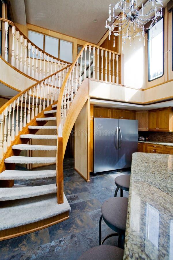 Interiore di lusso dell'yacht fotografie stock