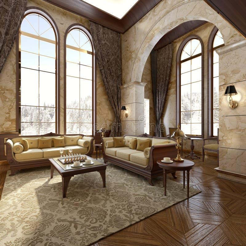 Interiore di lusso moderno royalty illustrazione gratis