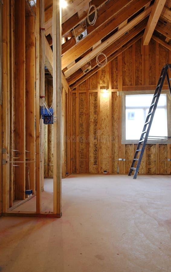 Interiore di nuova costruzione domestica immagini stock
