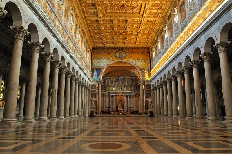 Interiore di Saint Paul fuori delle pareti immagini stock