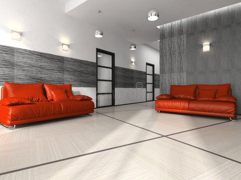 Interiore di stanza thewaiting illustrazione vettoriale