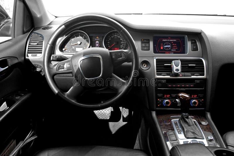 Interiore di un'automobile fotografie stock