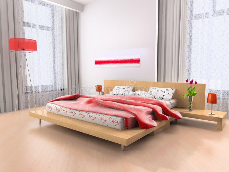 Interiore di una camera da letto illustrazione vettoriale