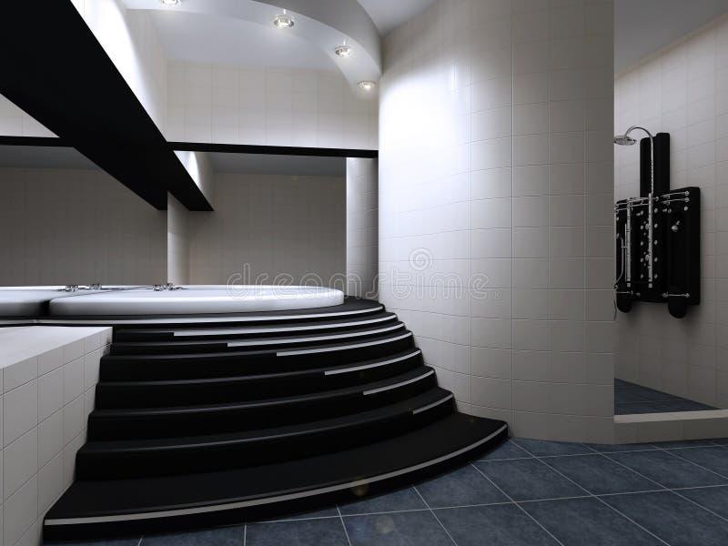 Interiore di una stanza da bagno moderna illustrazione di stock