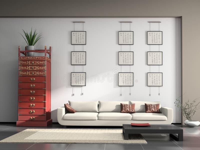 Interiore domestico illustrazione di stock