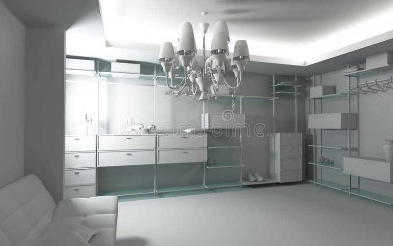 Interiore domestico del guardaroba illustrazione vettoriale