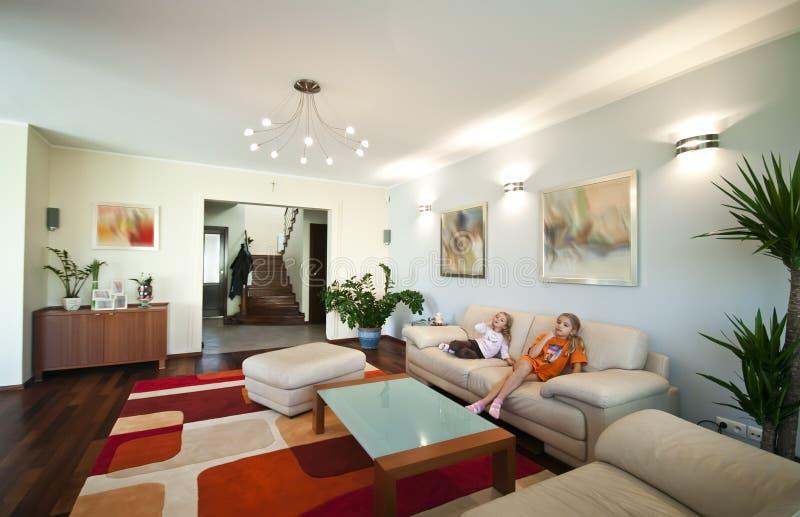 Interiore domestico moderno fotografia stock