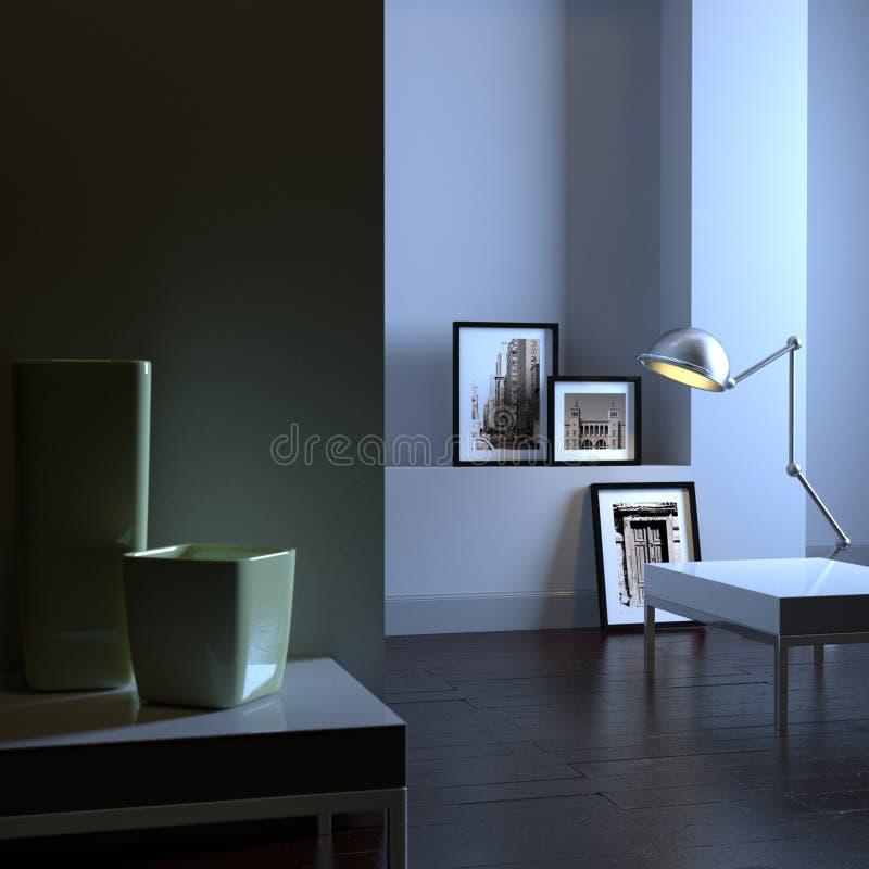 Interiore elegante (alba) royalty illustrazione gratis