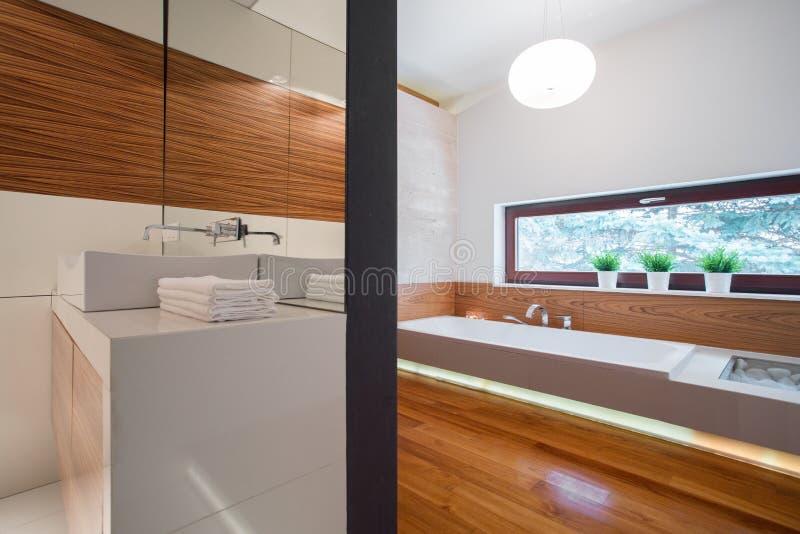 Interiore elegante della stanza da bagno fotografia stock libera da diritti