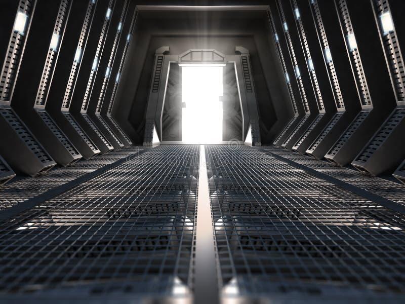 Interiore futuristico fotografie stock libere da diritti