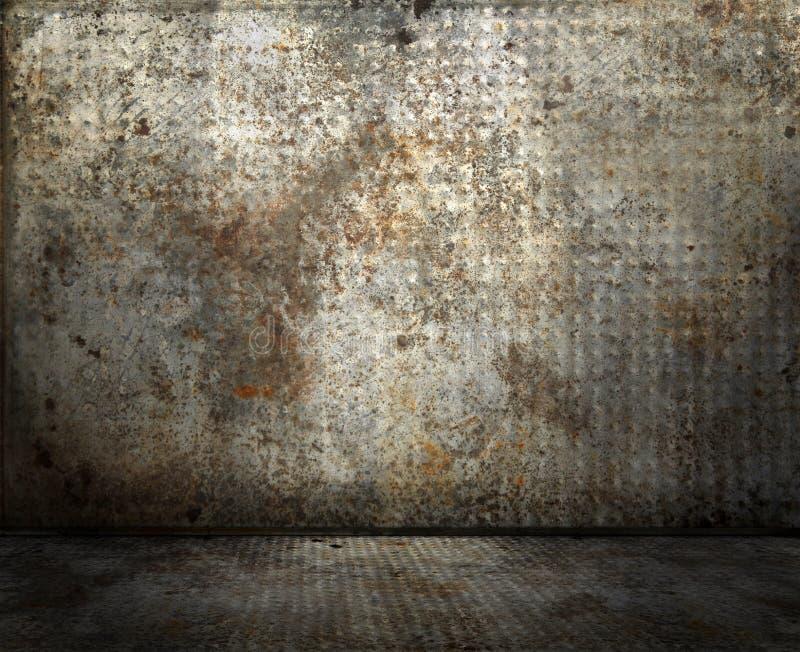 Interiore industriale di Grunge fotografie stock