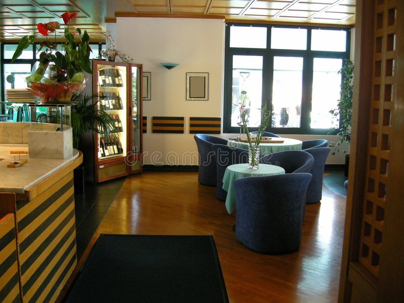 Interiore Lugano del ristorante fotografia stock
