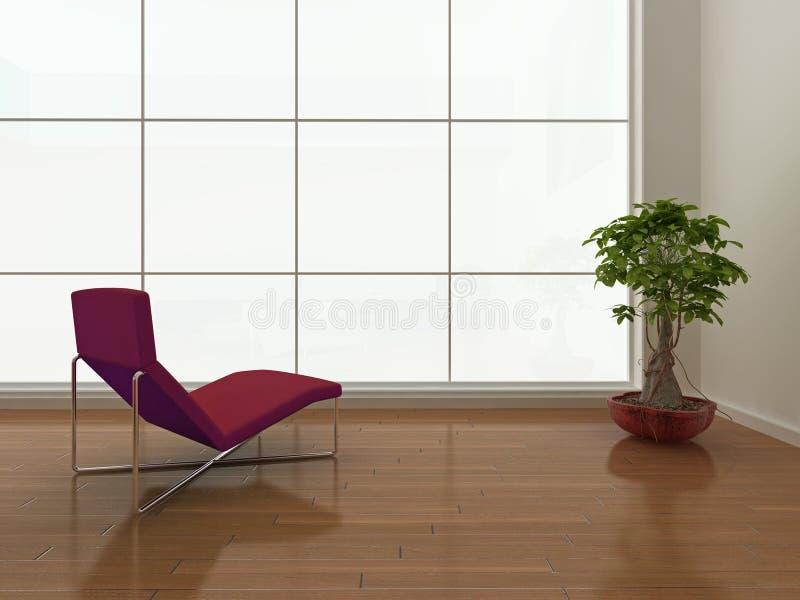 Interiore minimalista illustrazione vettoriale
