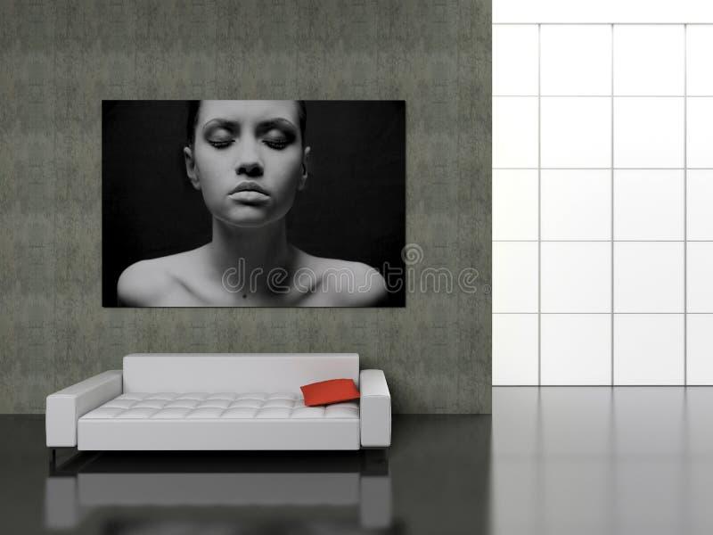 Interiore moderno. royalty illustrazione gratis
