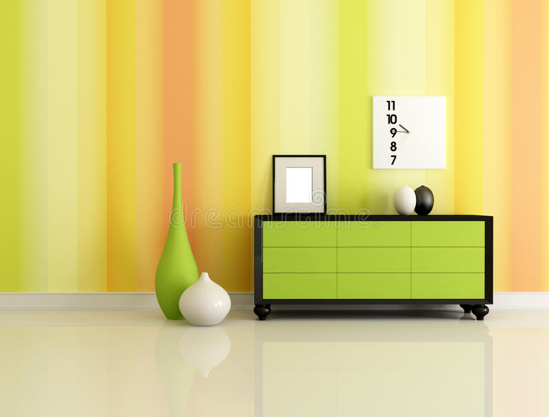 Interiore moderno illustrazione vettoriale