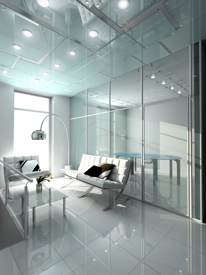 Interiore moderno. illustrazione di stock