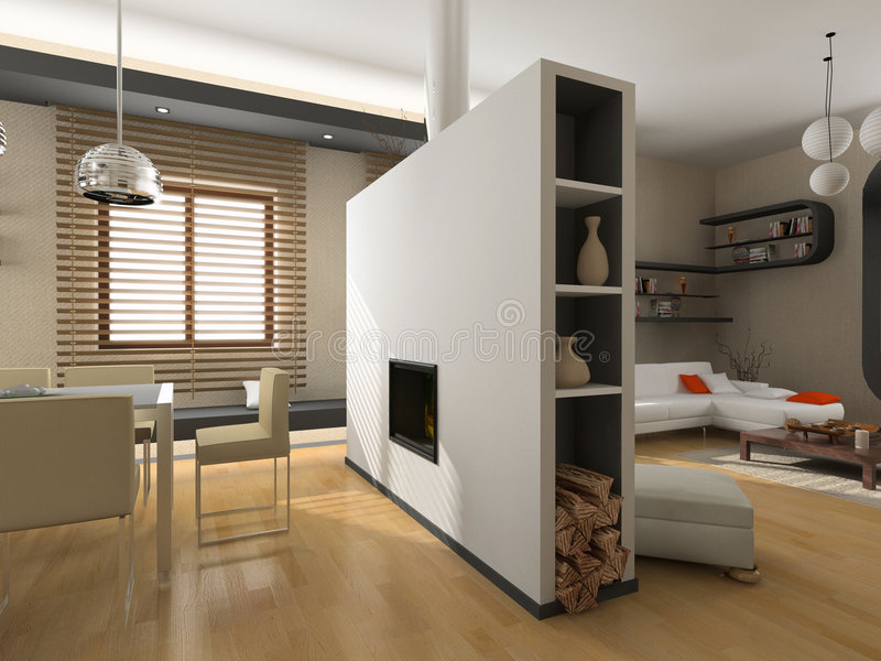 Interiore moderno immagine stock