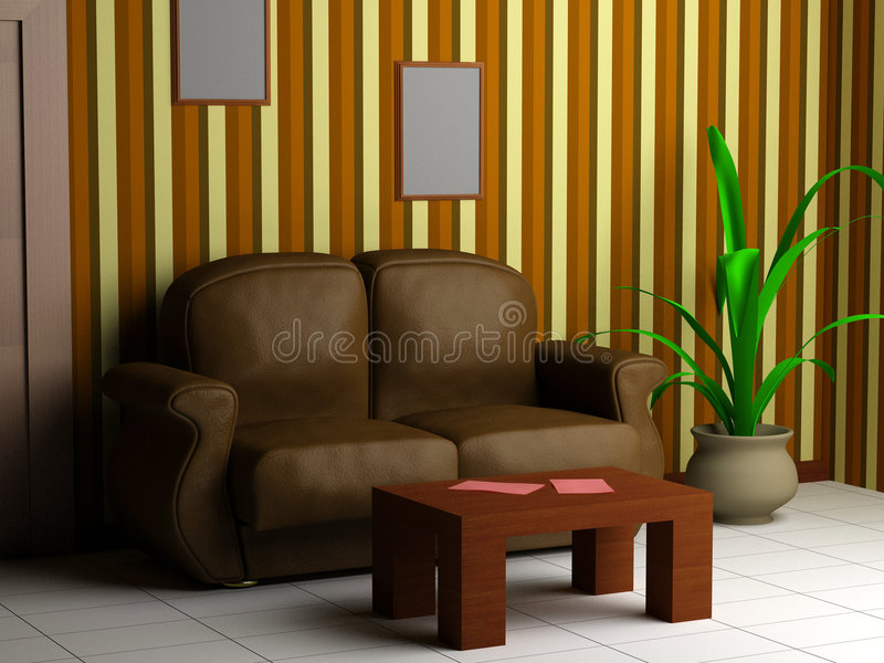 Interiore moderno 3d illustrazione di stock illustrazione for Mobilia arredamento 3d