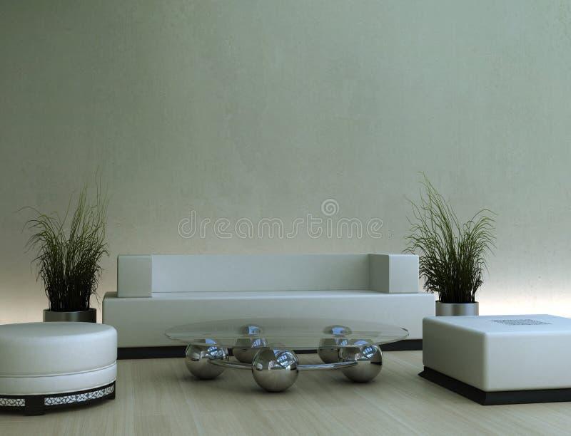 interiore moderno 3d immagini stock