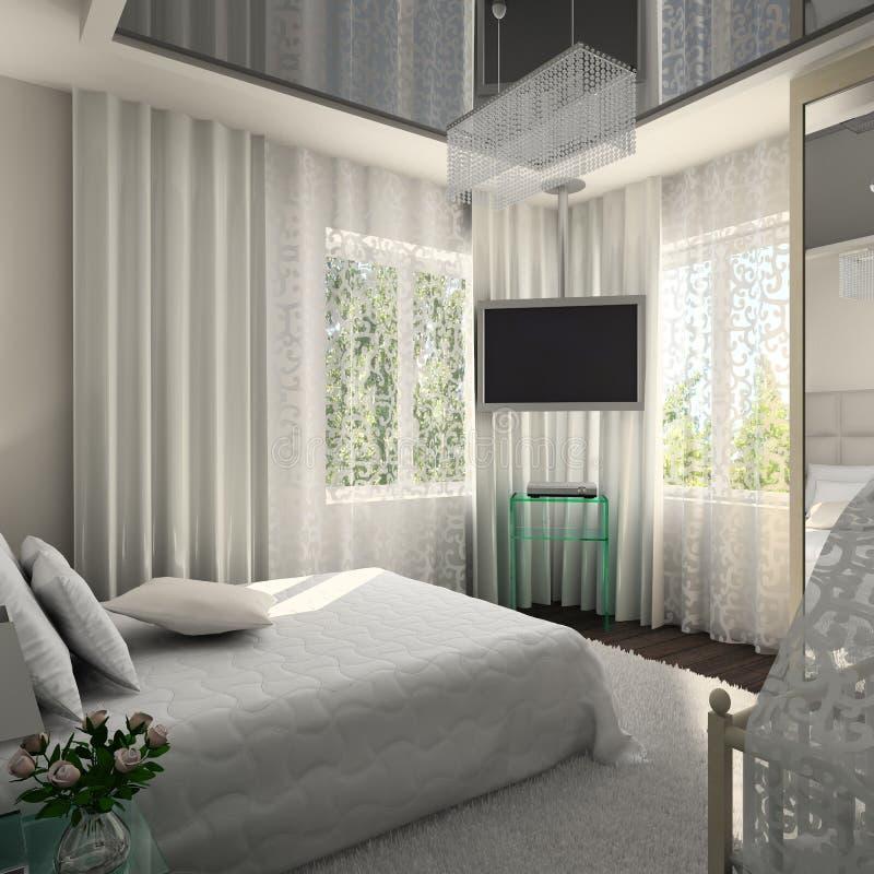 Interiore moderno. 3D rendono immagini stock libere da diritti