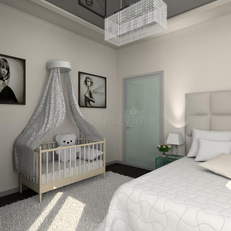 Interiore moderno. 3D rendono fotografie stock libere da diritti