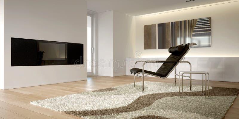 Interiore moderno bianco illustrazione di stock