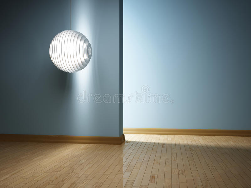 Interiore moderno con la lampada fotografia stock libera da diritti