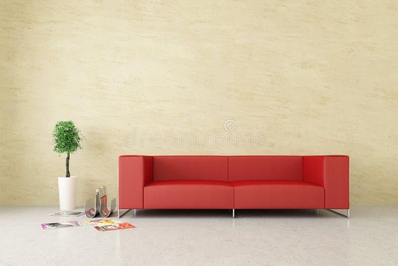 Interiore moderno con la parete veneziana dello stucco fotografia stock libera da diritti