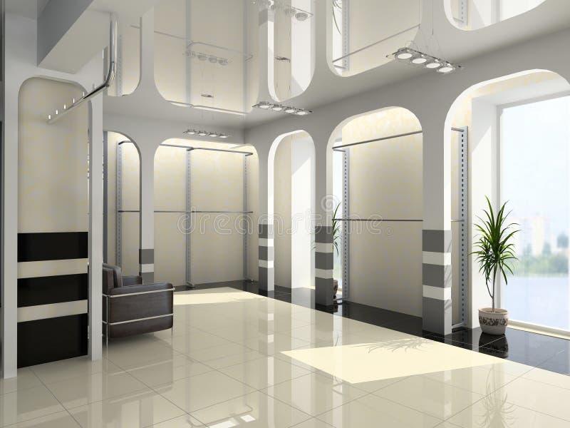 Interiore moderno del negozio immagine stock libera da diritti
