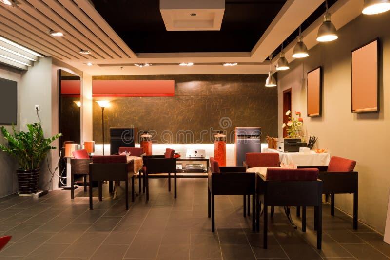 Interiore moderno del ristorante o della barra immagini stock libere da diritti